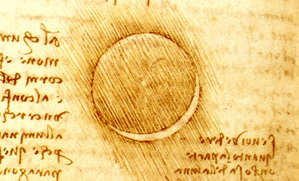 Eartheshine on the Moon by da Vinci