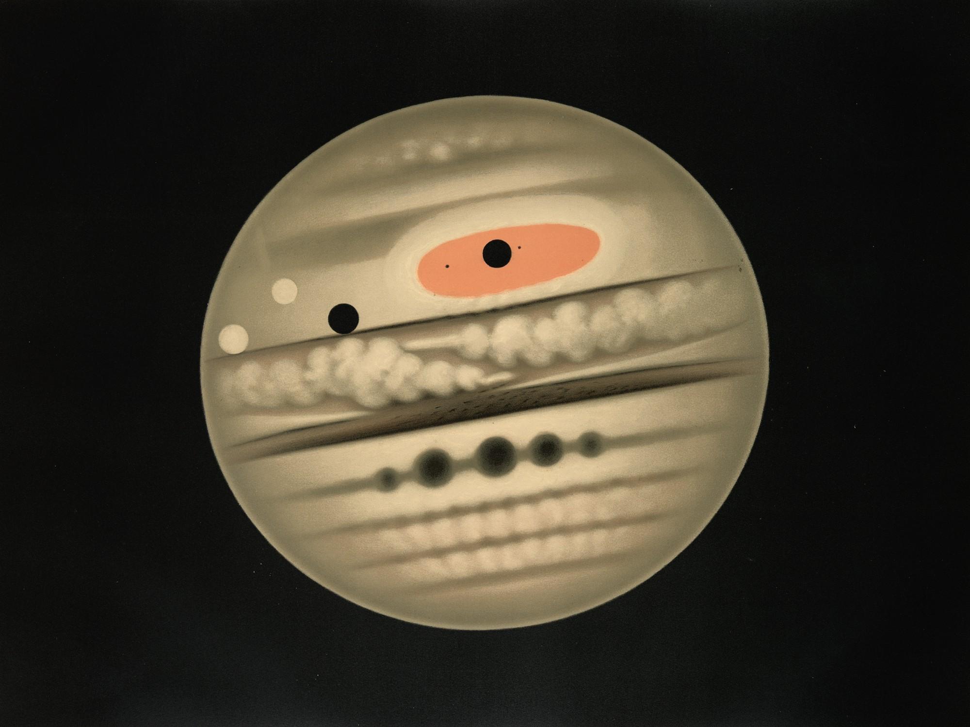 Jupiter by E.Trouvelot, 1880