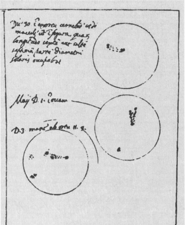 Sun spots by Galileo