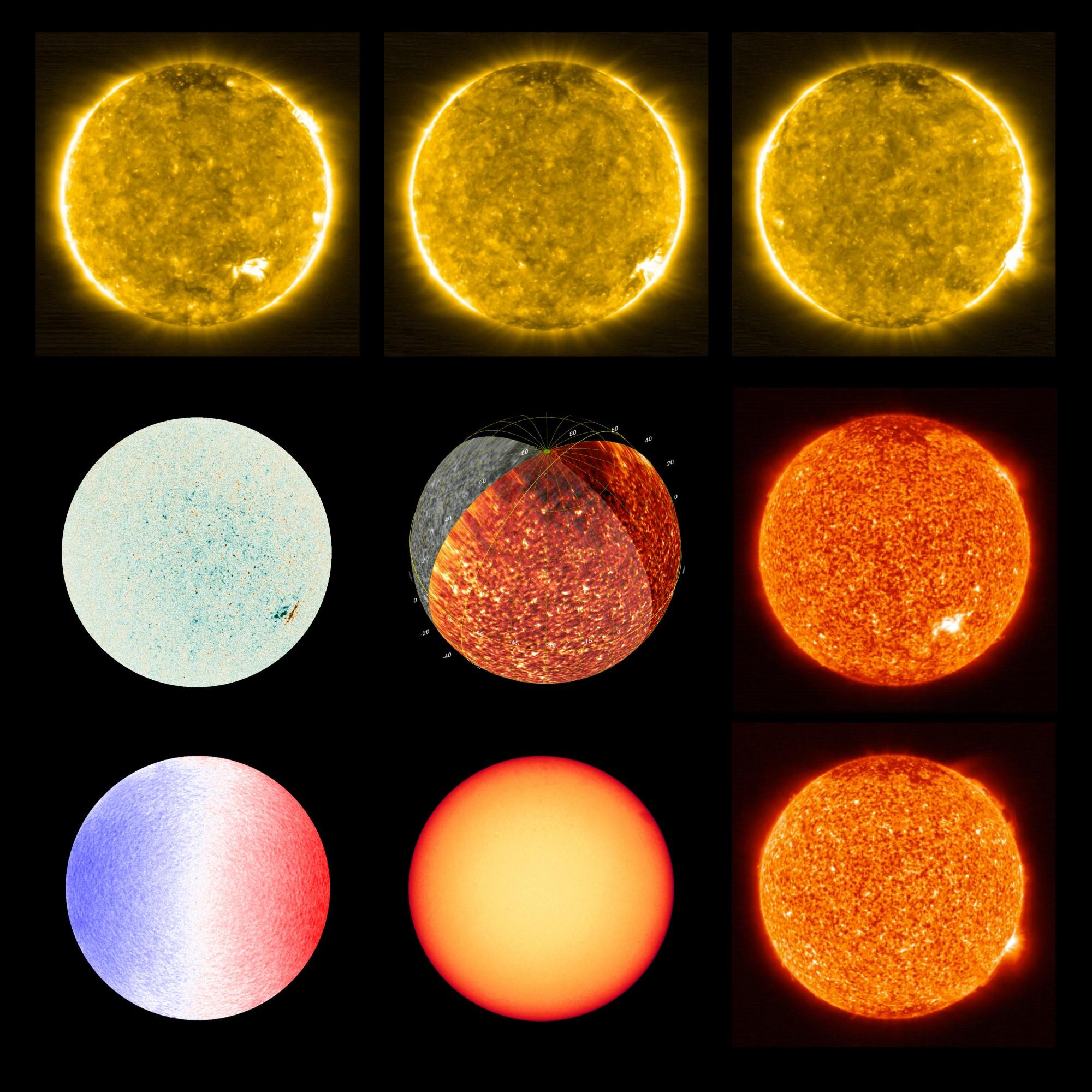 Sun at different wavelengths