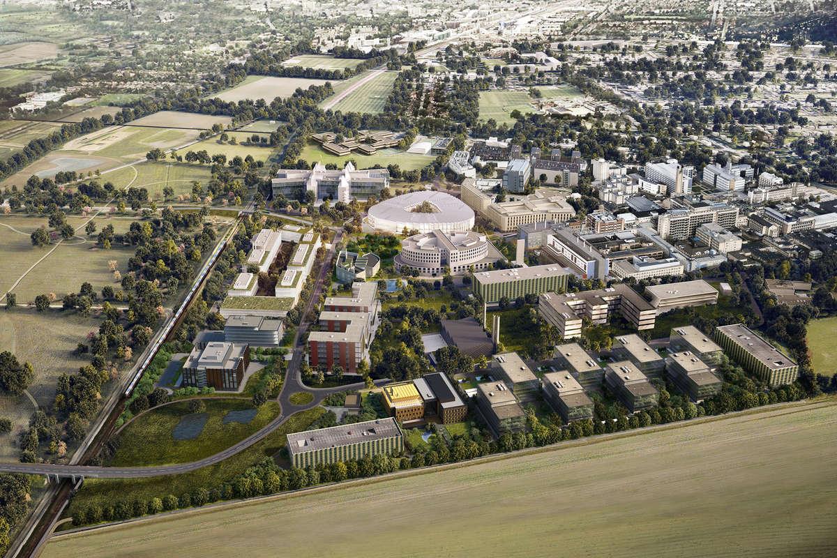Биомедицинский кампус вКембридже, вкотором размещается штаб-квартира компании <i>AstraZeneca</i>.