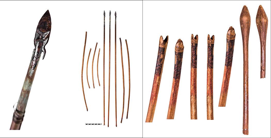 У юной амазонки был выбор стрел: две сдеревянными наконечниками, одна скостяным, остальные сбронзовыми