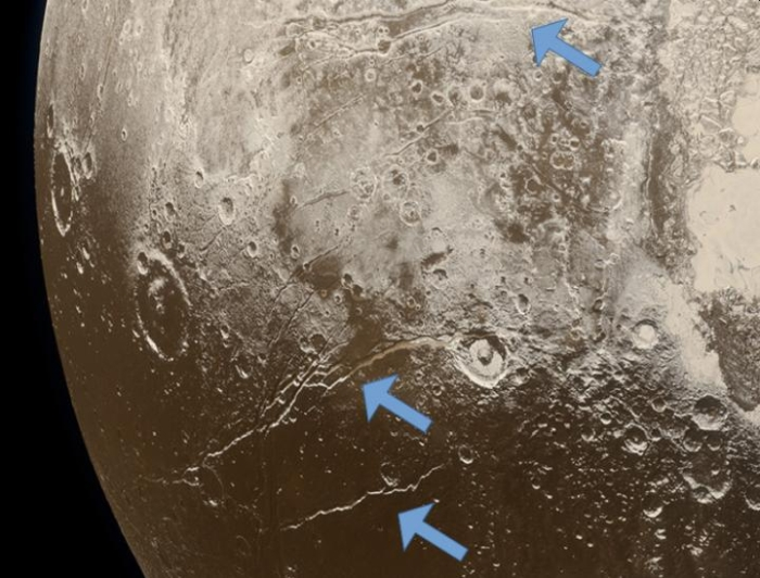 Extension faults at Pluto