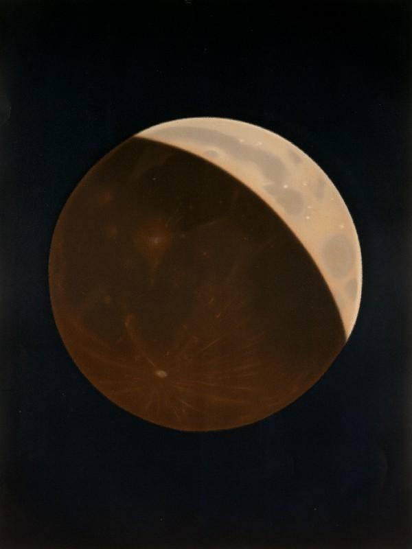Partial lunar eclipse by E.Trouvelot