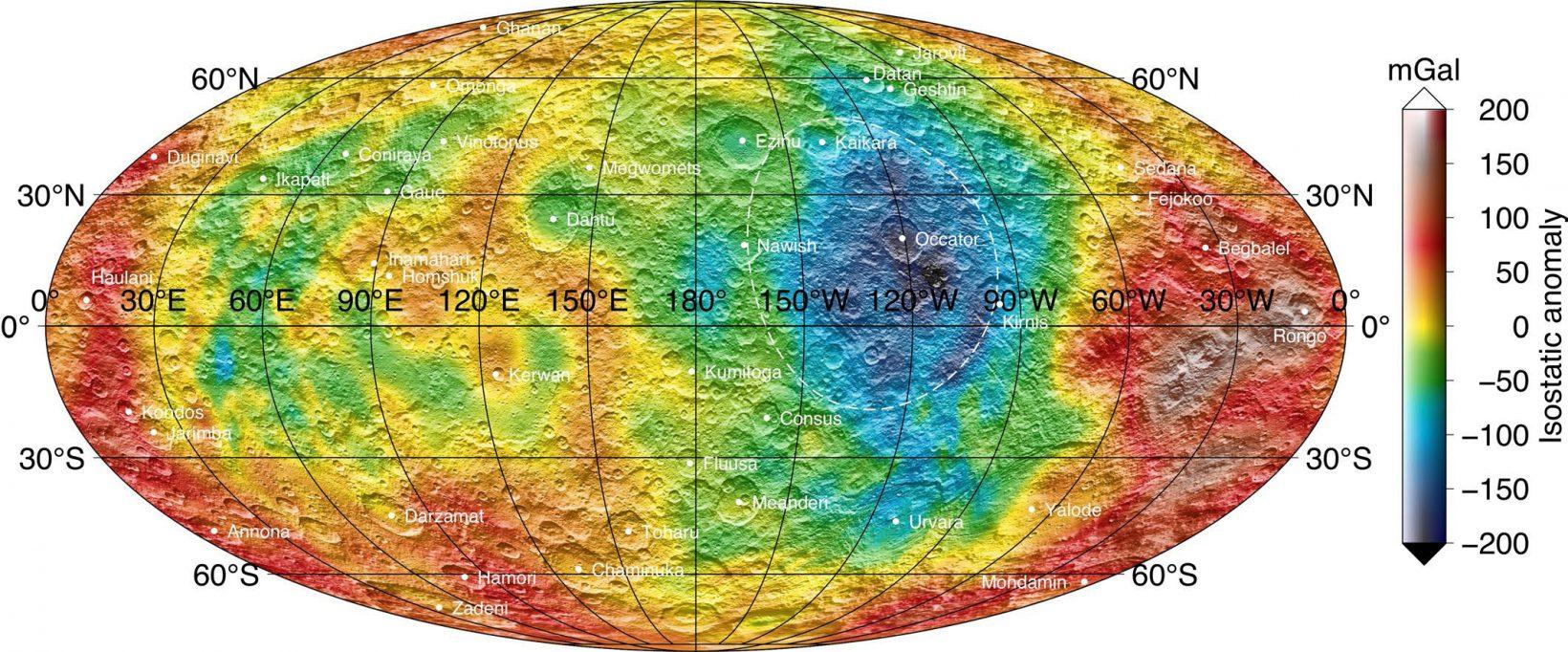 Ceres isostatic gravity anomalies