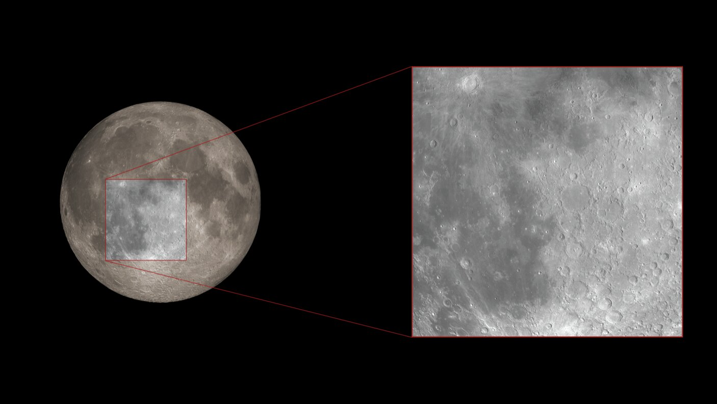 Moon surface used for reflected light detection