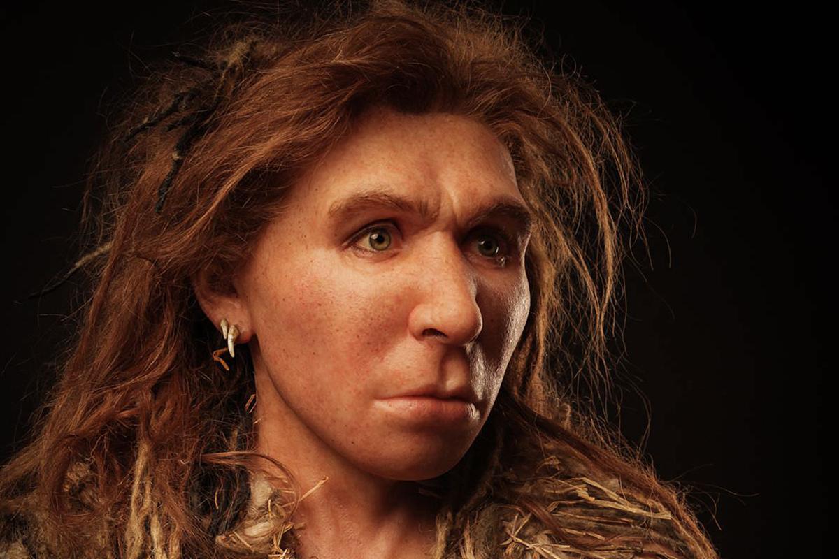 Неандертальская женщина. Реконструкция.