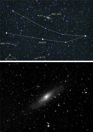 M31 finder chart