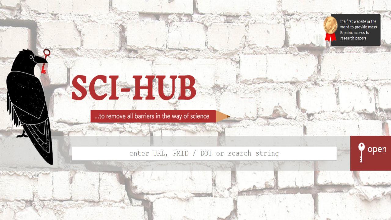 Главная страница <i>Sci-Hub</i>.