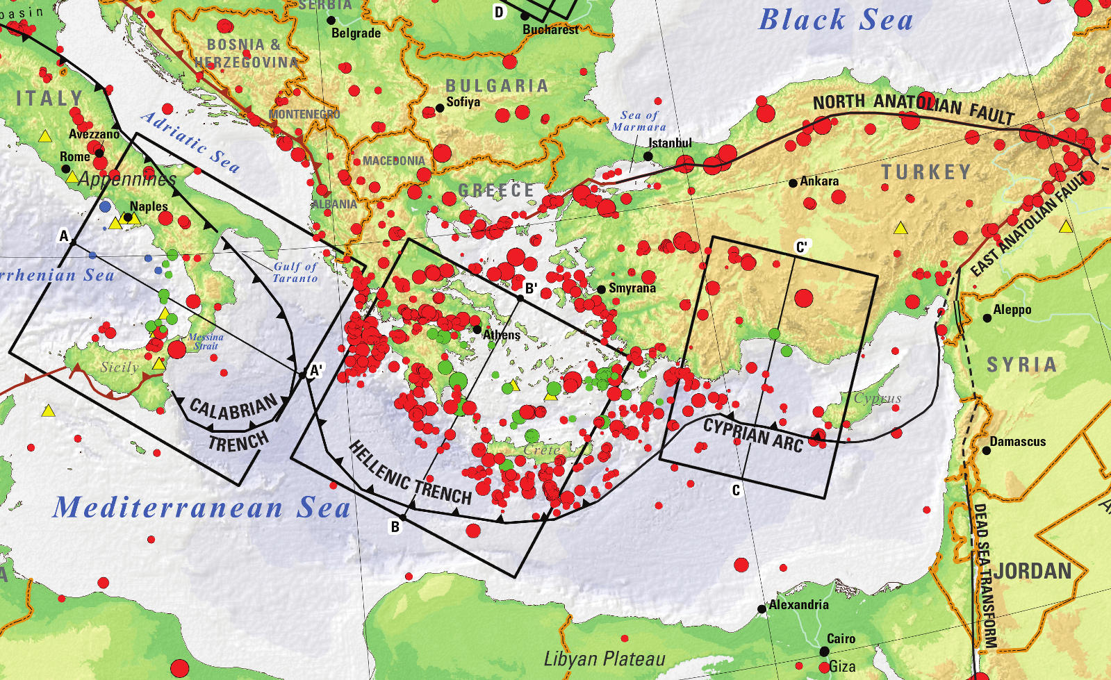 Mediterranean tectonics and seismicity