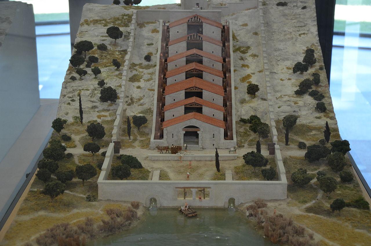 Старая реконструкция мельничного комплекса вБарбегале.