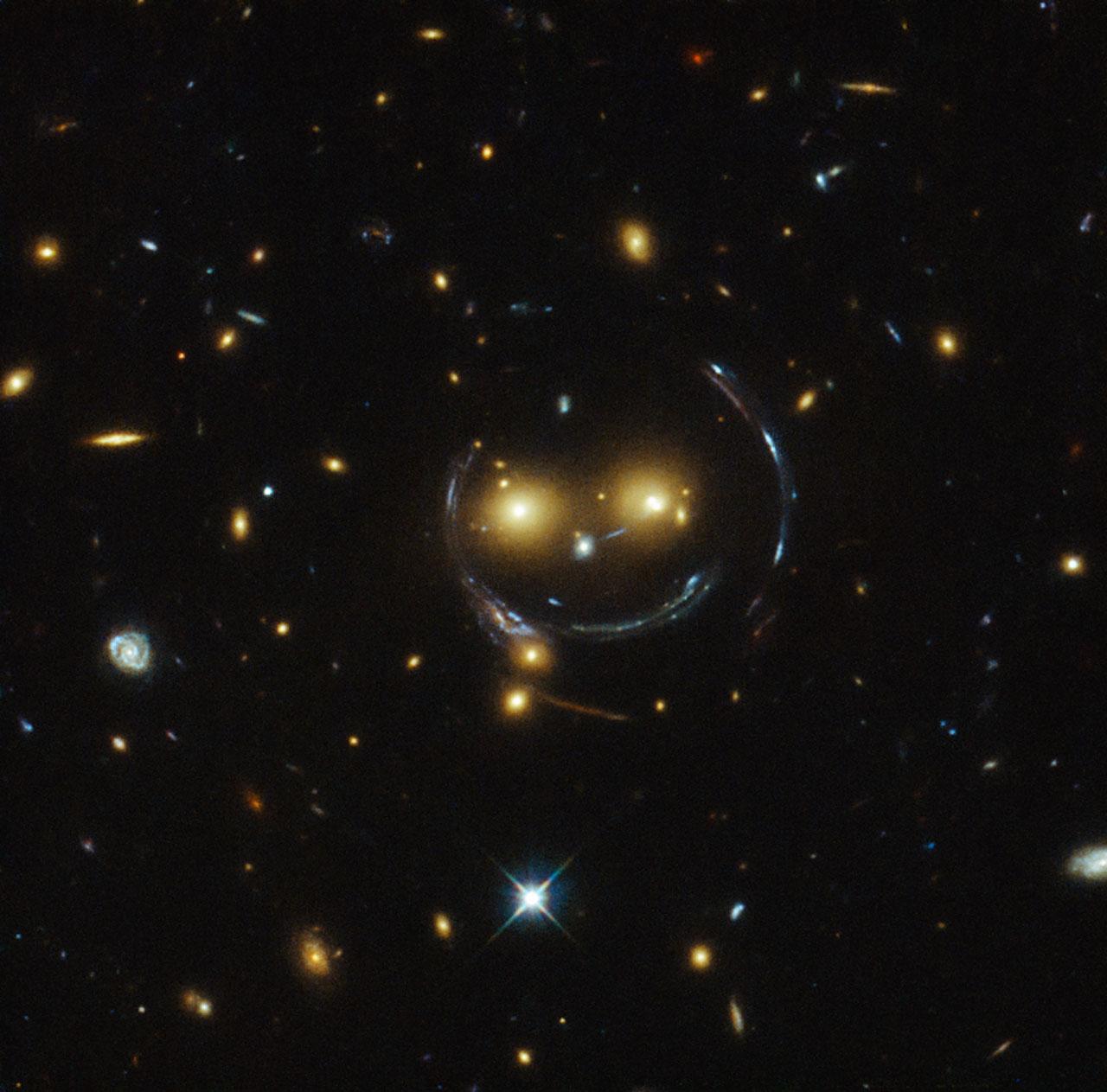smiling gravitational lens