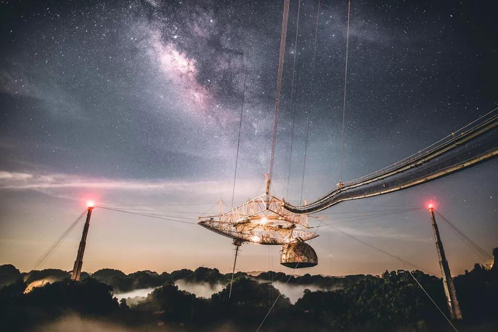 Подвесная платформа вторичной антенны радиотелескопа Аресибо. <i>UCF</i>.