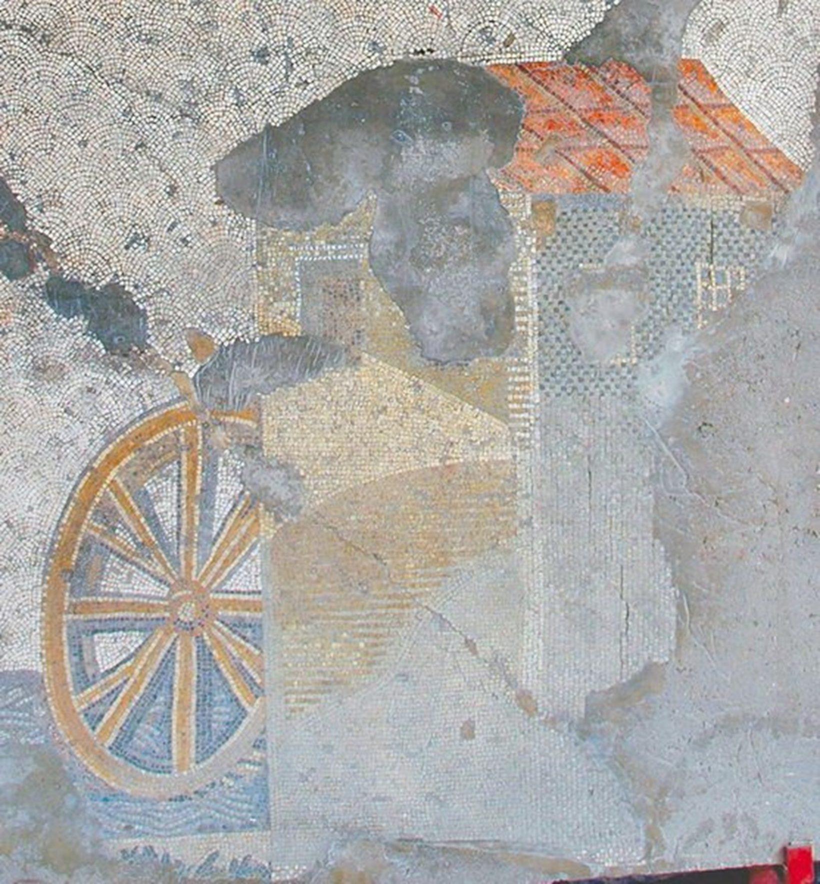 Константинополь, Большой императорский дворец, мозаика сизображением водяной мельницы
