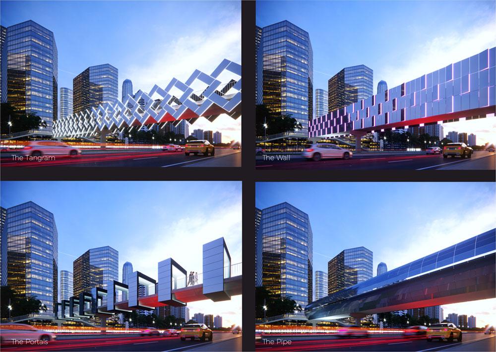 Solar Activation of Footbridges for Beijing