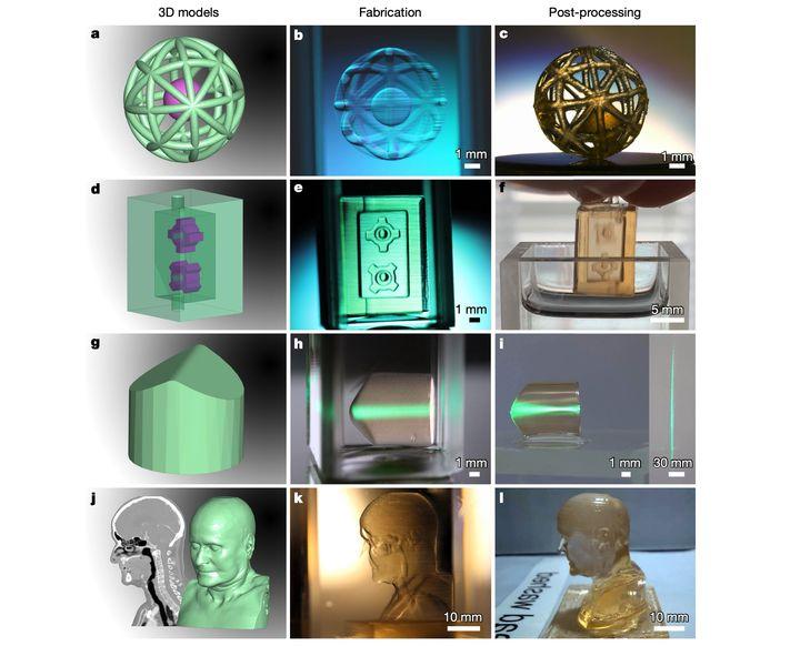 3D-модели иотпечатанные по ним методом ксолографии предметы