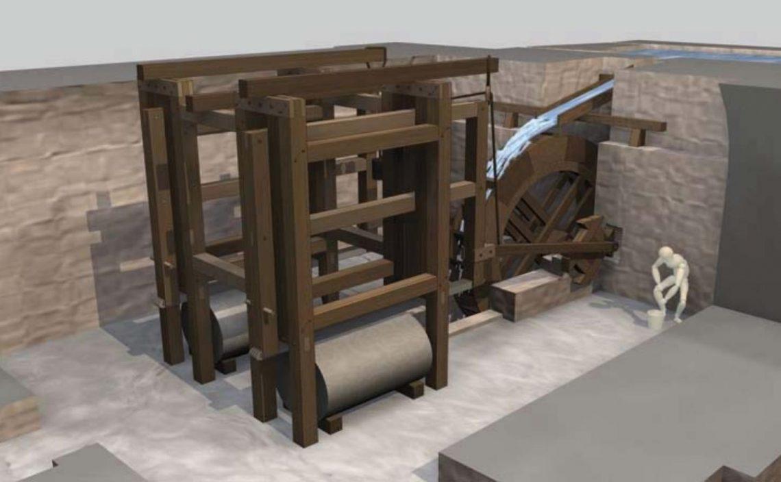 Реконструкция пилорамы вГерасе (Morin 2007)