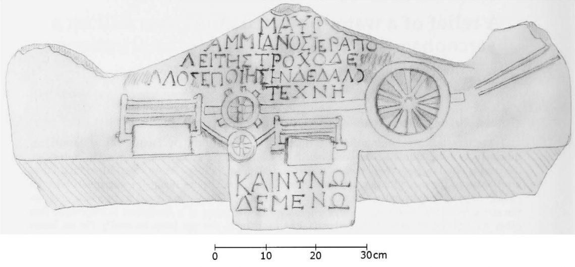 Отрисовка рельефа насаркофаге из Иераполиса (Ritti 2007)