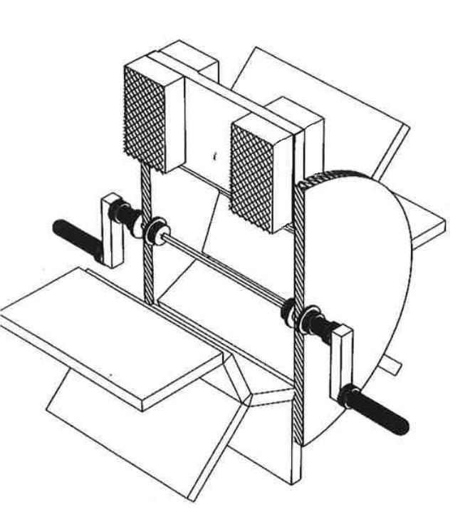 Реконструкция маленького водяного колеса сколенчатым валом (Schiöler 2009)