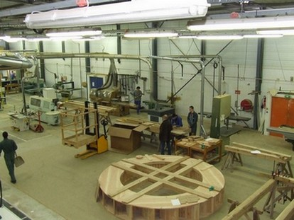 Сборка водяного колеса для реконструкции механизма вГерасе, Lycée de Loches
