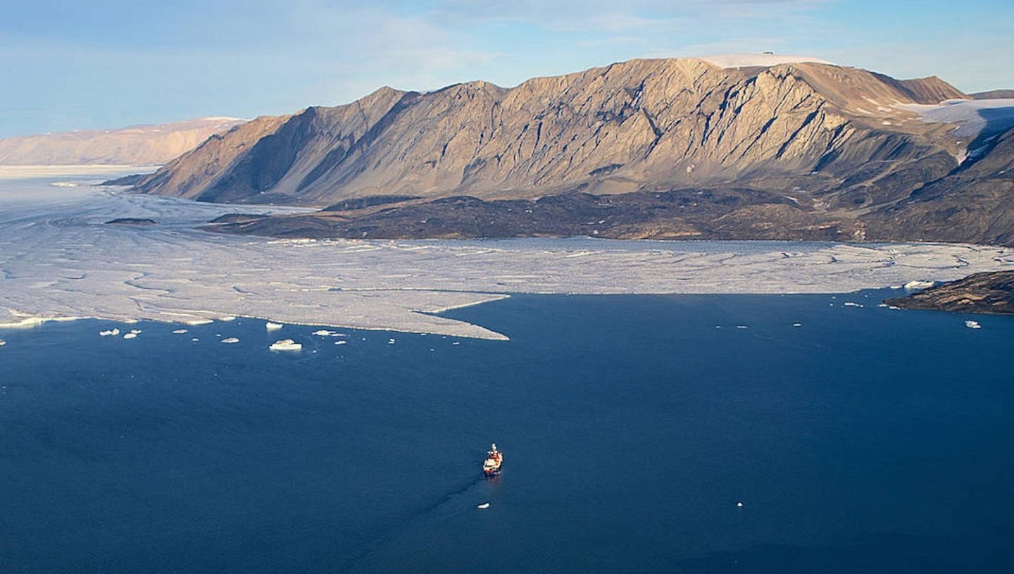 Polarstern vessel and Ice tongue, Greenland