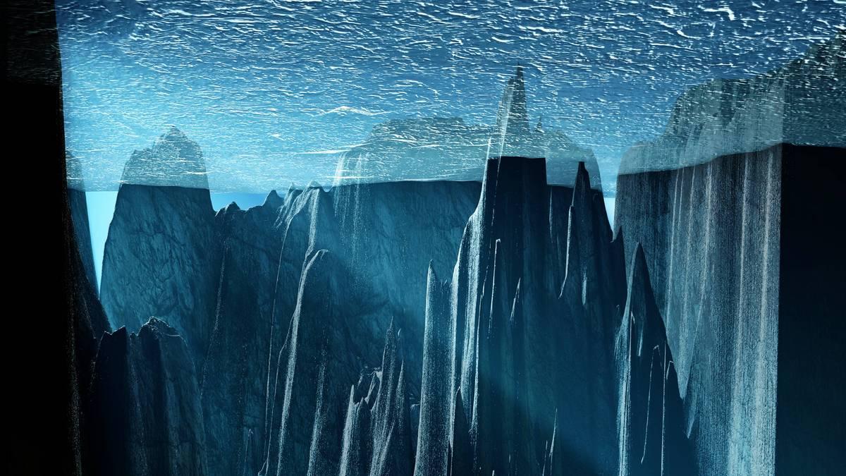 Glacial ocean interior