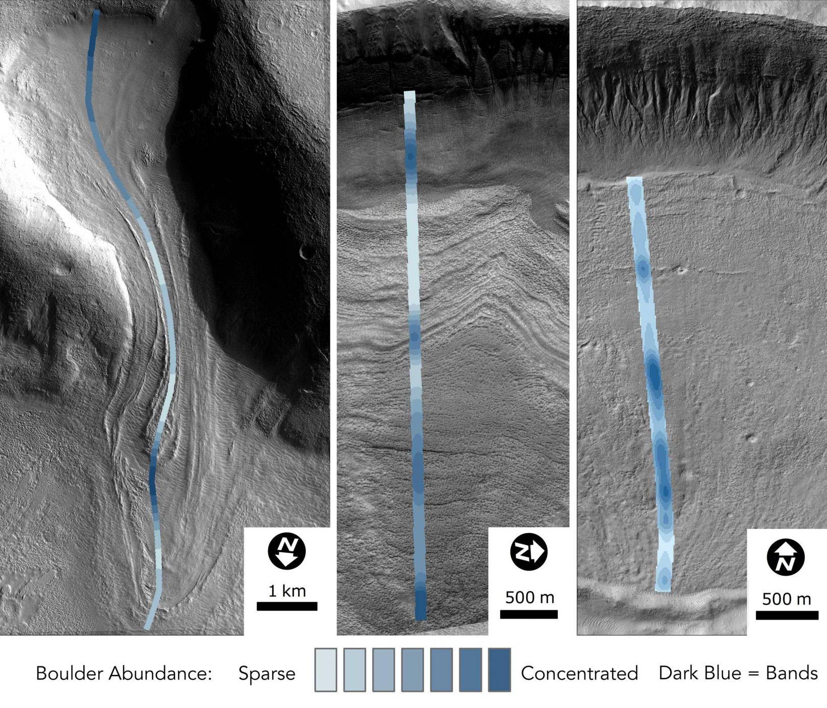Martian glaciers