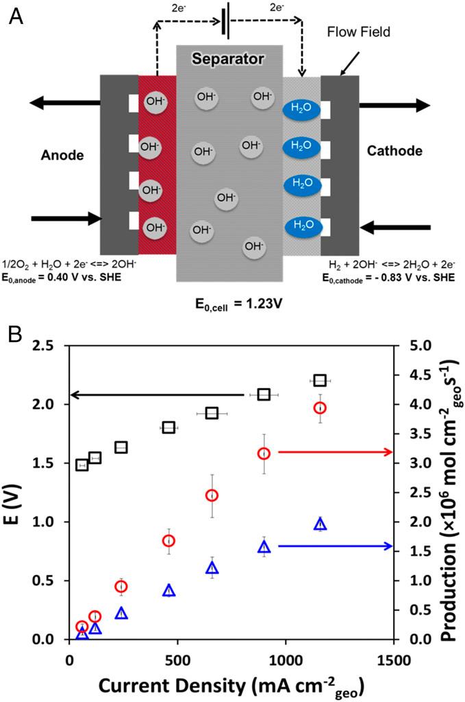 Martian brine electrolyzer schematic and productivity