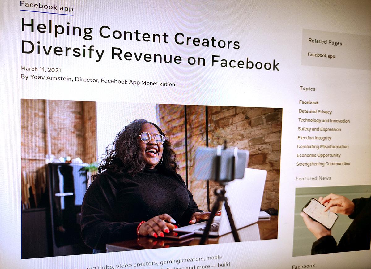 Facebook хочет помочь создателям востребованного контента подзаработать нарекламе. Невущерб собственной выгоде, разумеется.