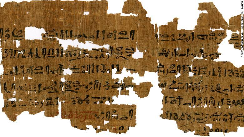 "Древний египетский папирус. / <a href=""https://edition.cnn.com/2018/08/31/health/ancient-egypt-medical-knowledge/index.html"" rel=""noopener"" target=""_blank"">Источник</a>."