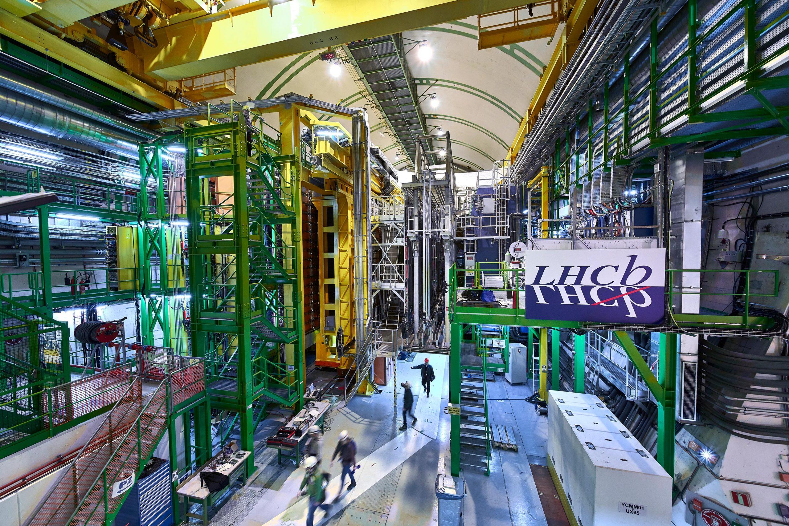 LHCb experiment cavern at Conseil Européenne pour la Recherche Nucléaire