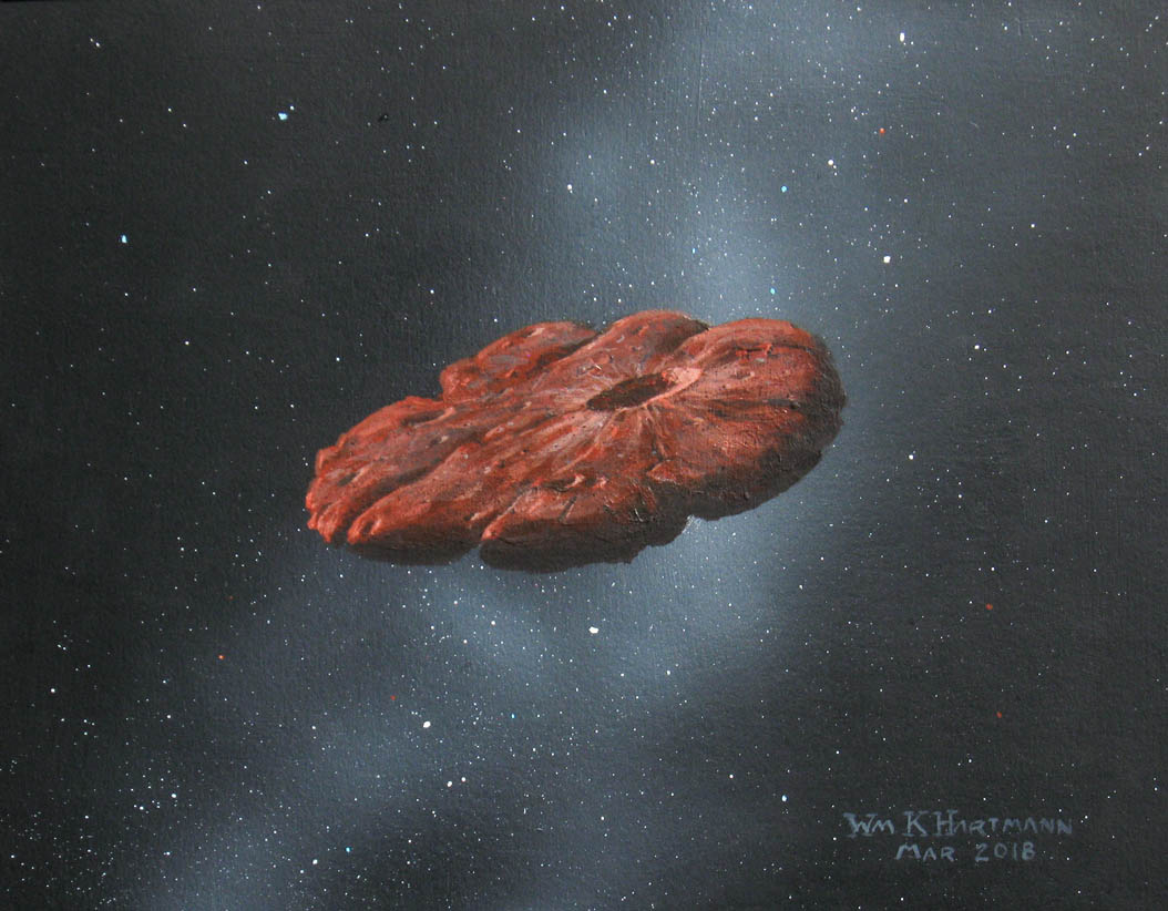 Oumuamua as flat object