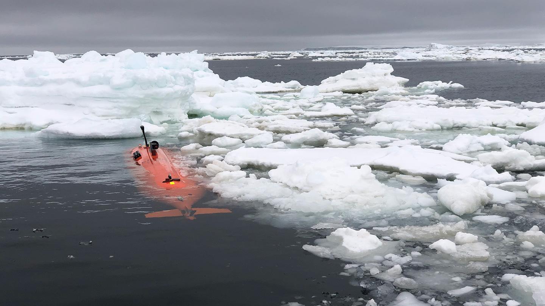 Ran, подводный беспилотный аппарат, собирающий данные оводе под ледником.