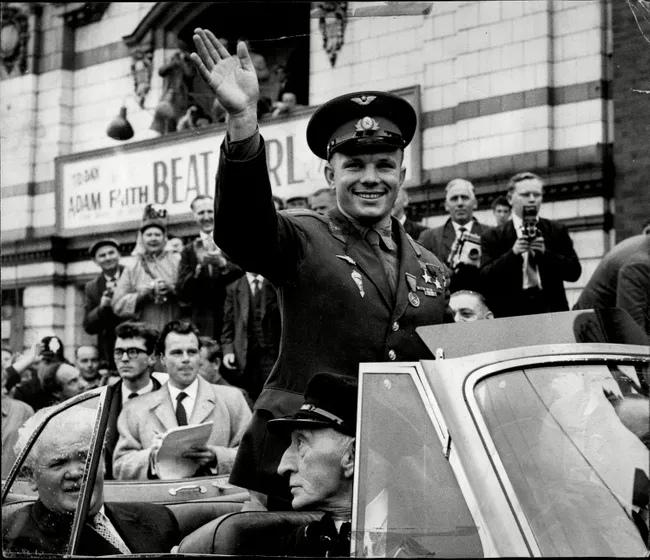 Gagarin visiting UK