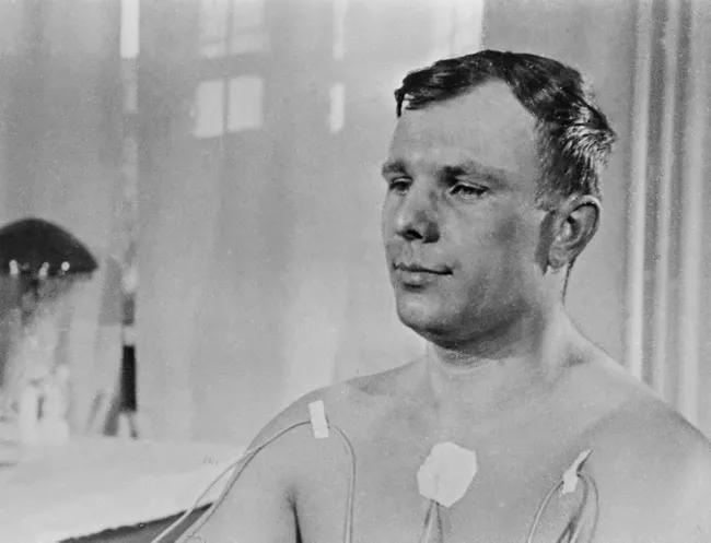 Gagarin at medical survey