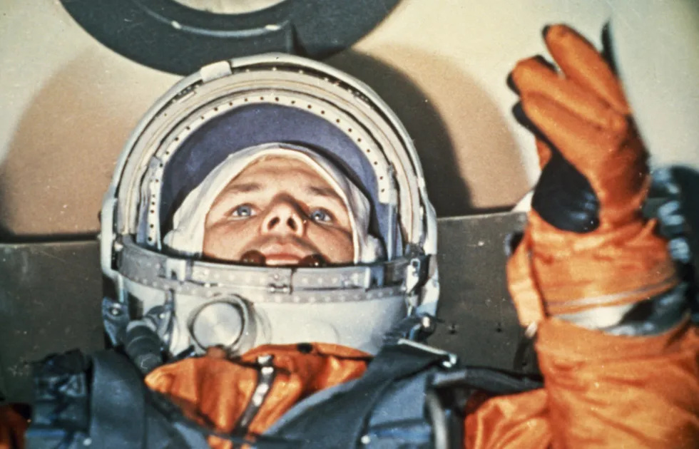 Gagarin at Vostok-1 before launch
