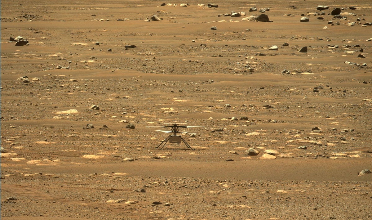 Ingenuity at landing site