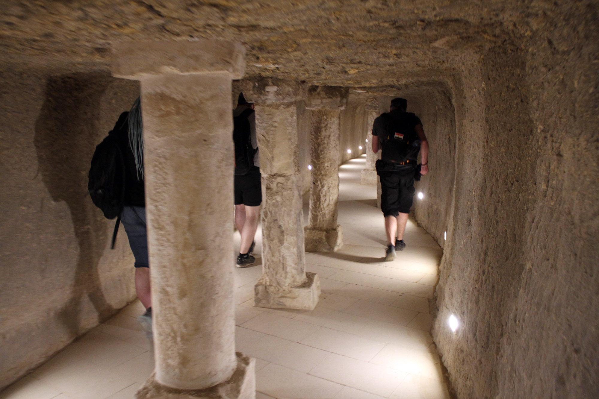 Внутри пирамиды Джосера (южный вход)