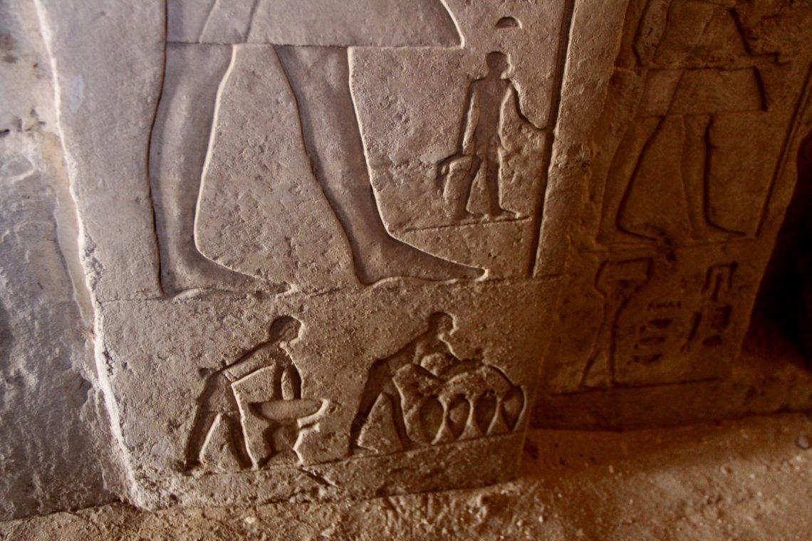 Процесс изготовления пива— рельеф вгробнице Нефер Тету