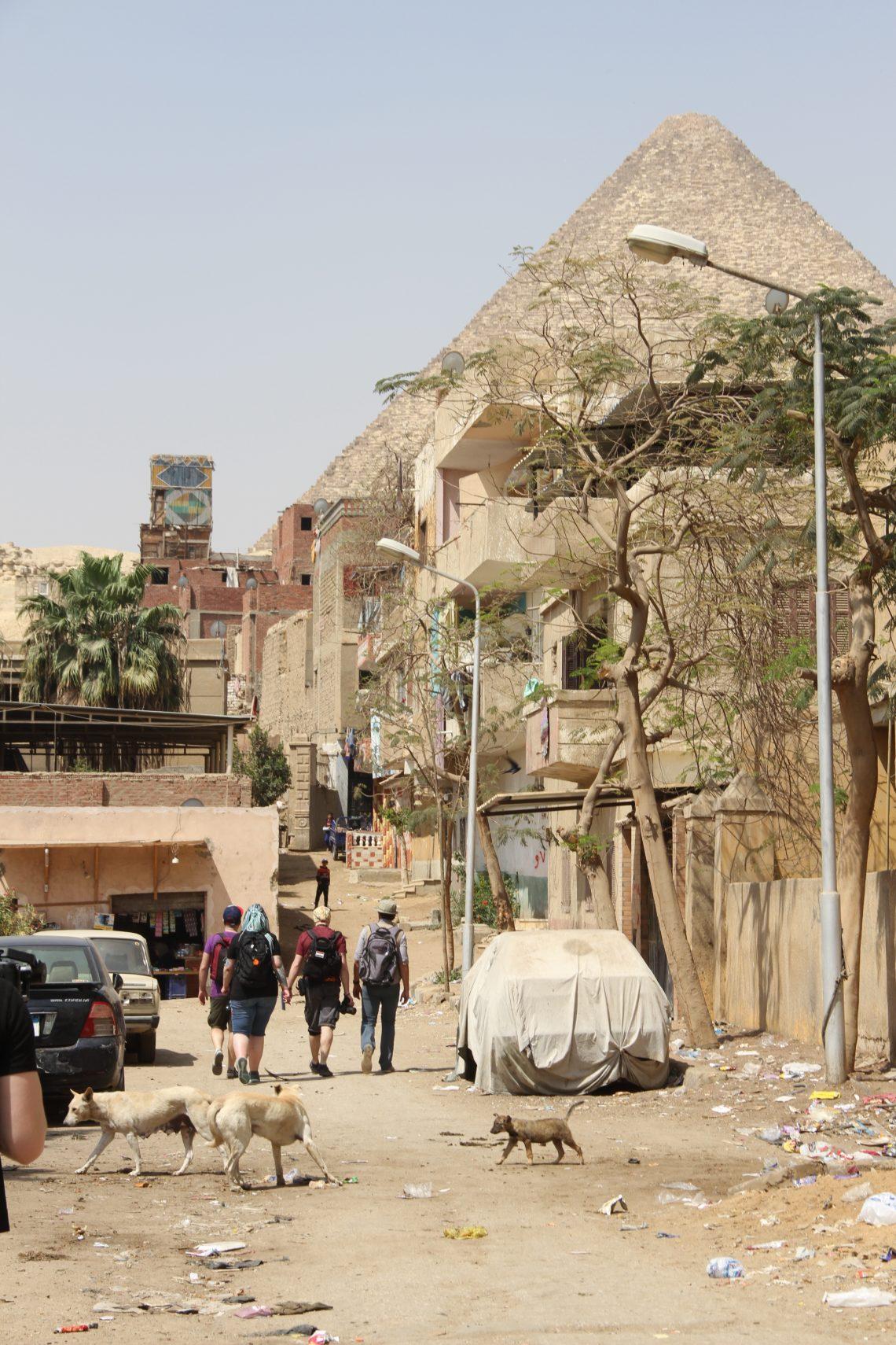 Наша команда гуляет по Nazlet El-Semman