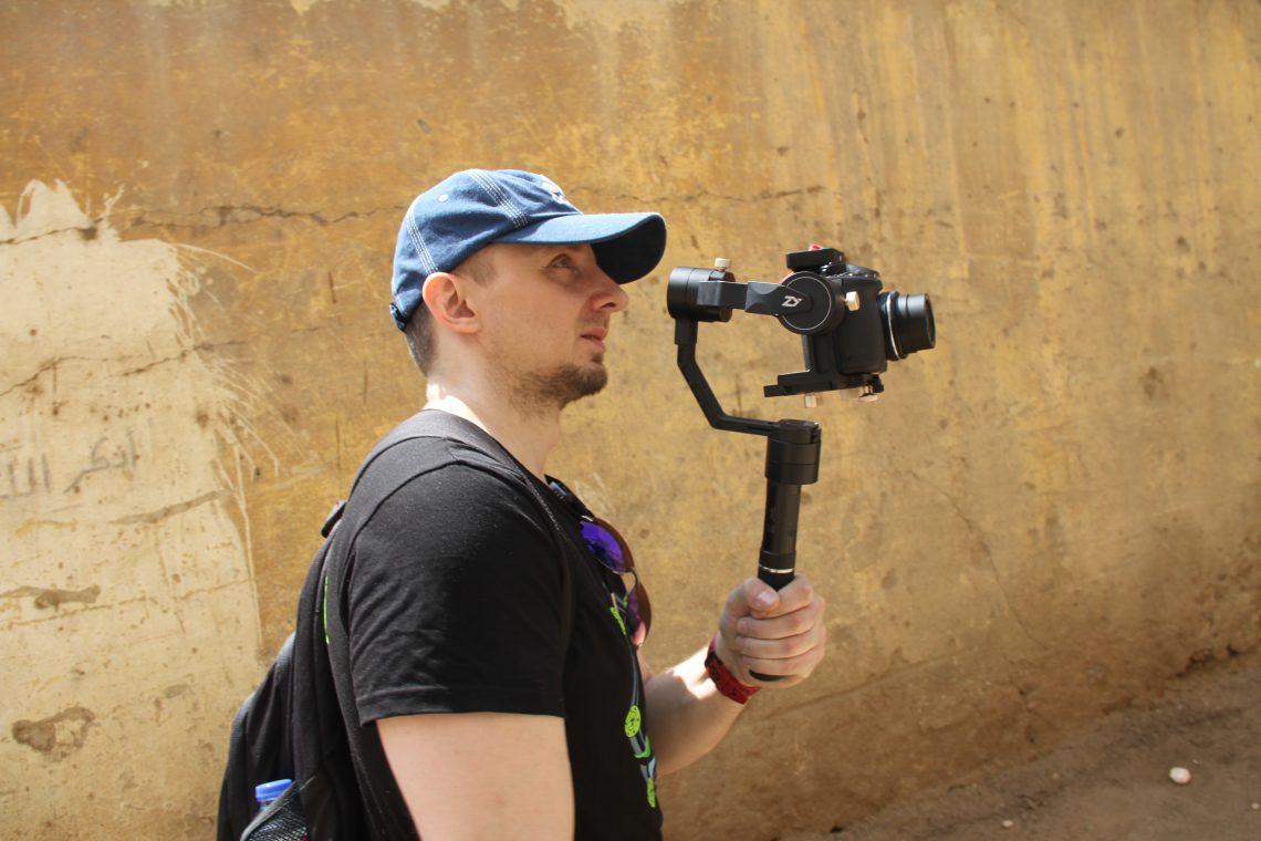 Виталий Краусс (Лаборатория Научных Видео) ведёт съёмку