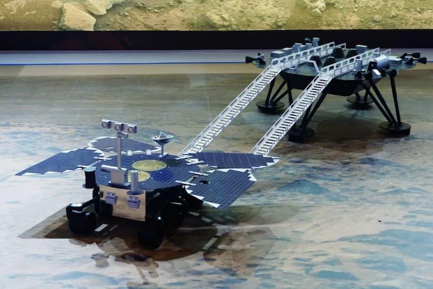 Zhurong landing platform and rover