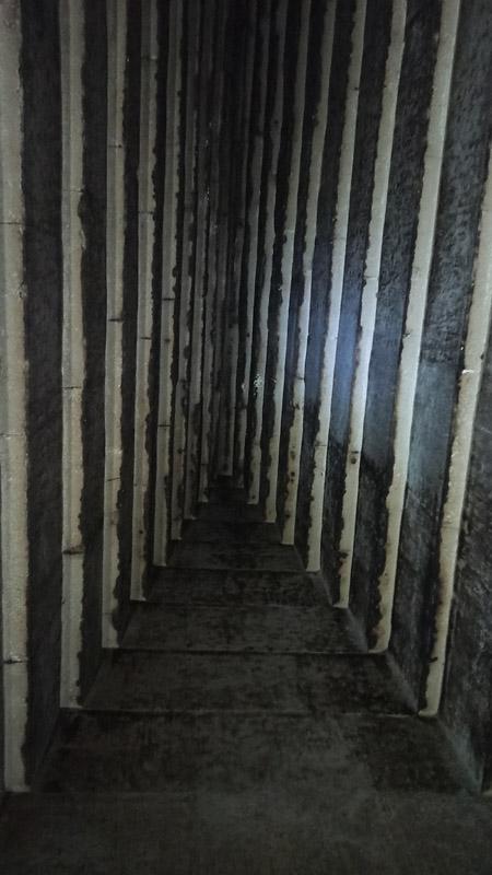 Свод погребальной камеры «розовой» пирамиды