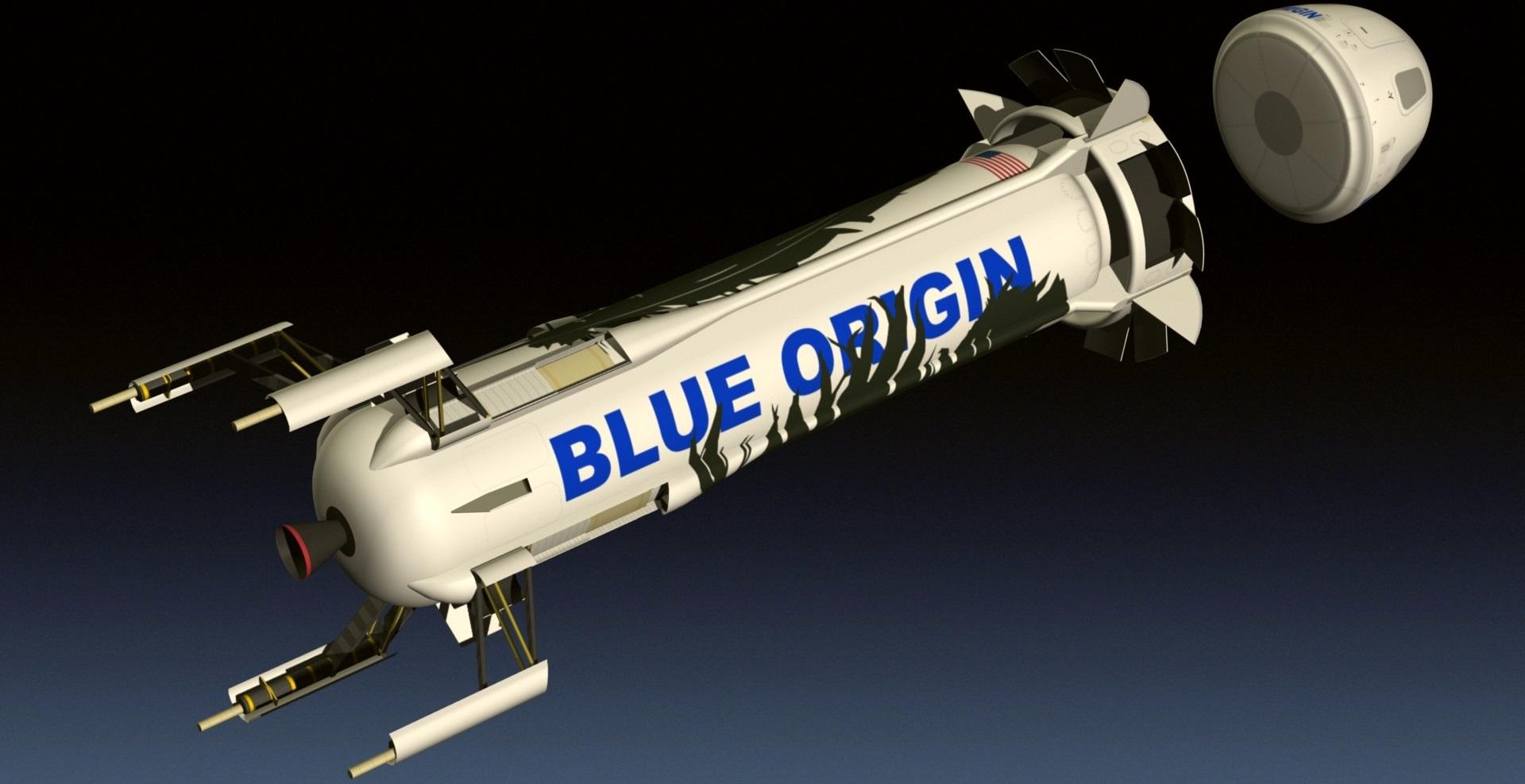 <i>Blue Origin New Shepard</i>.
