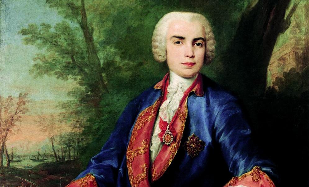 Иллюстрация— фрагмент портрета Фаринелли кисти Якопо Амигони (около 1752 года)