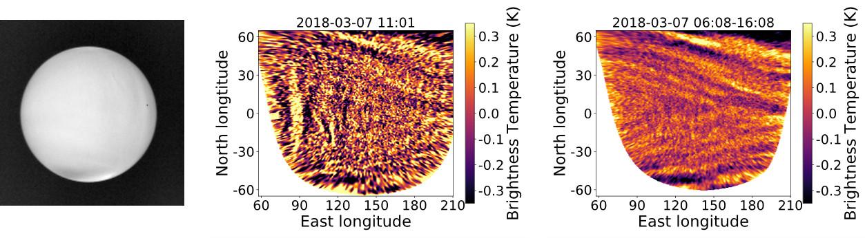 Venus night side infrared images