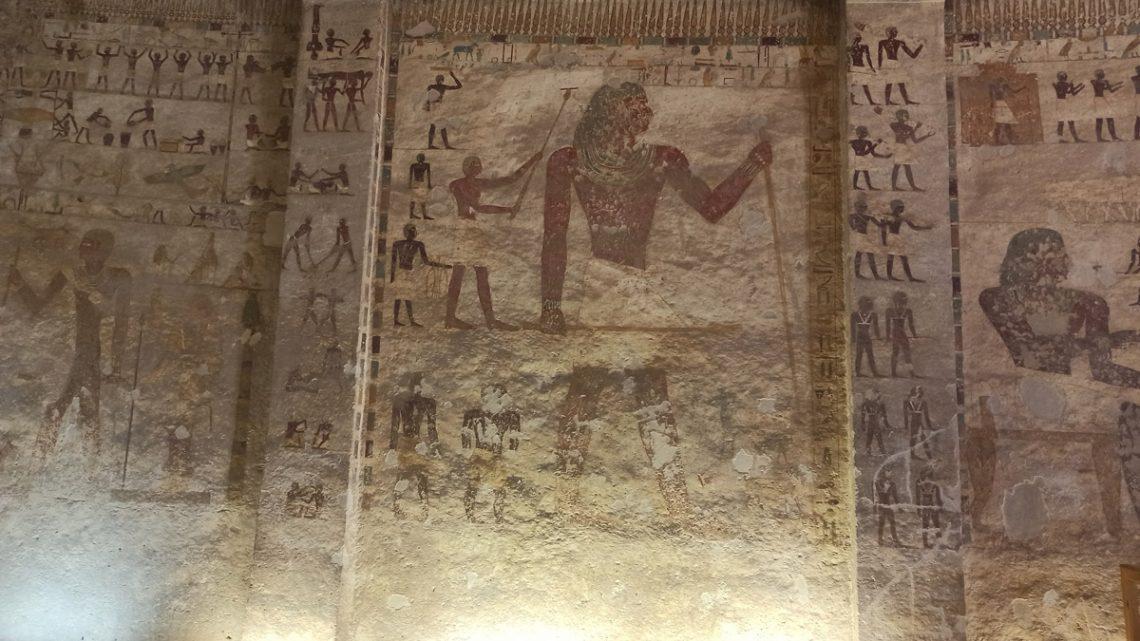 Часть росписи вгробнице Хети