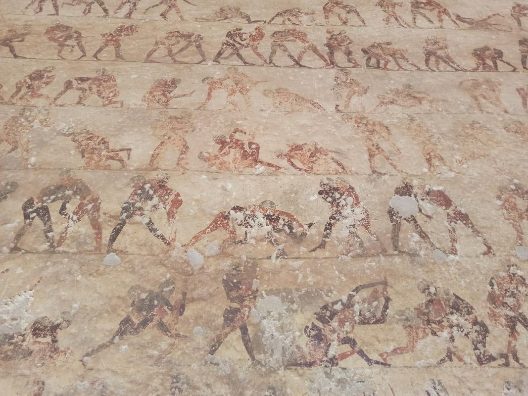 Роспись вгробнице Хети. Спортивные состязания: крупный план