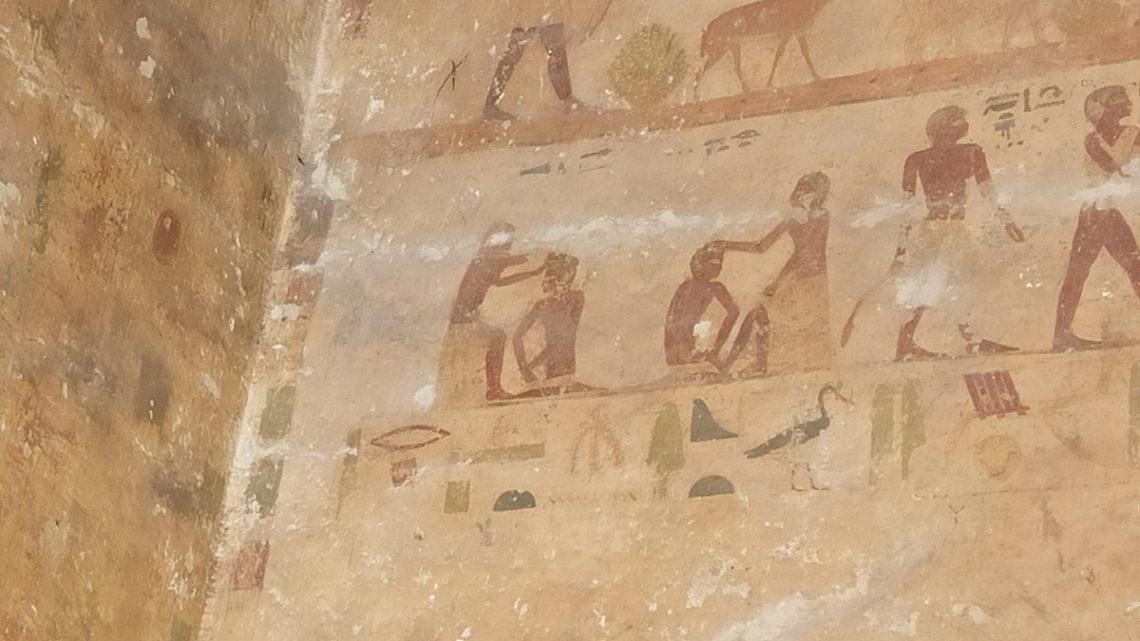 Изображение древнеегипетских парикмахеров