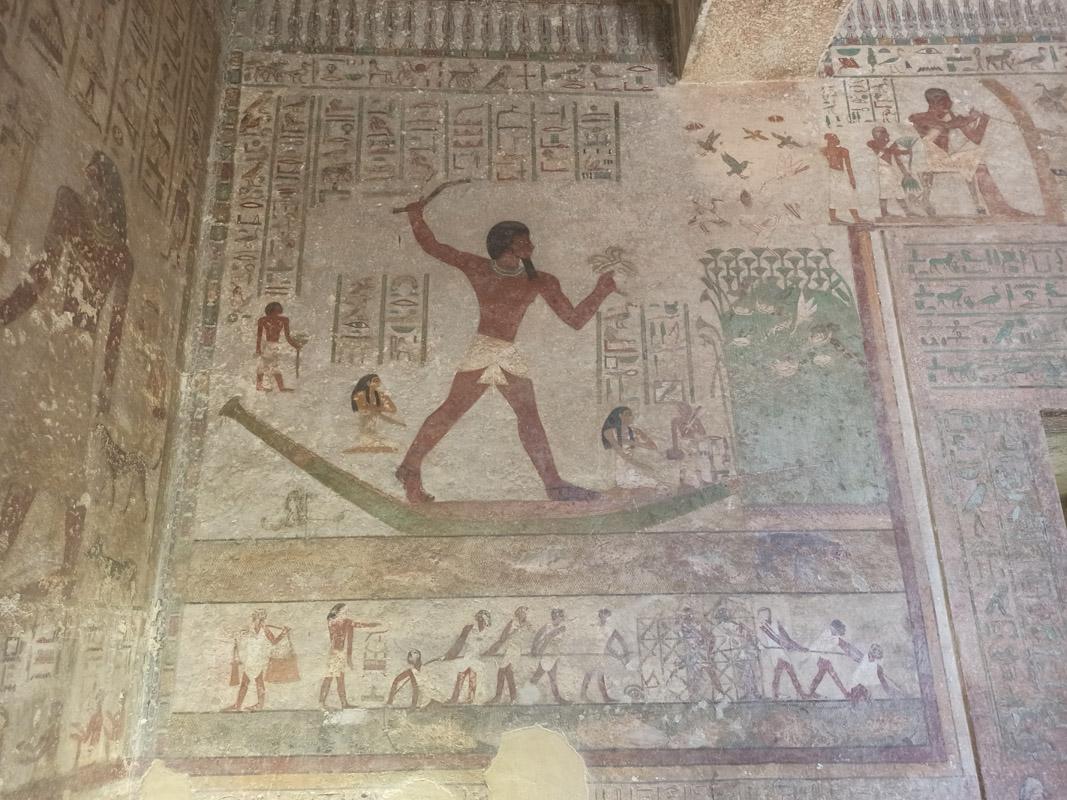 Часть росписи вгробнице Хнумхотепа II